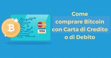 Comprare Bitcoin con Carta di Credito