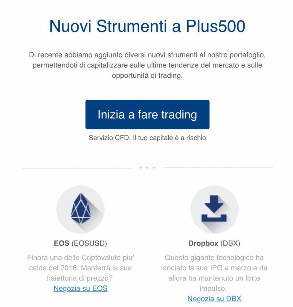 Trading EOS Plus500