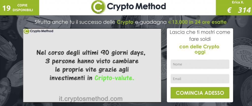 Crypto Method Recensioni e Opinioni truffa o funziona?