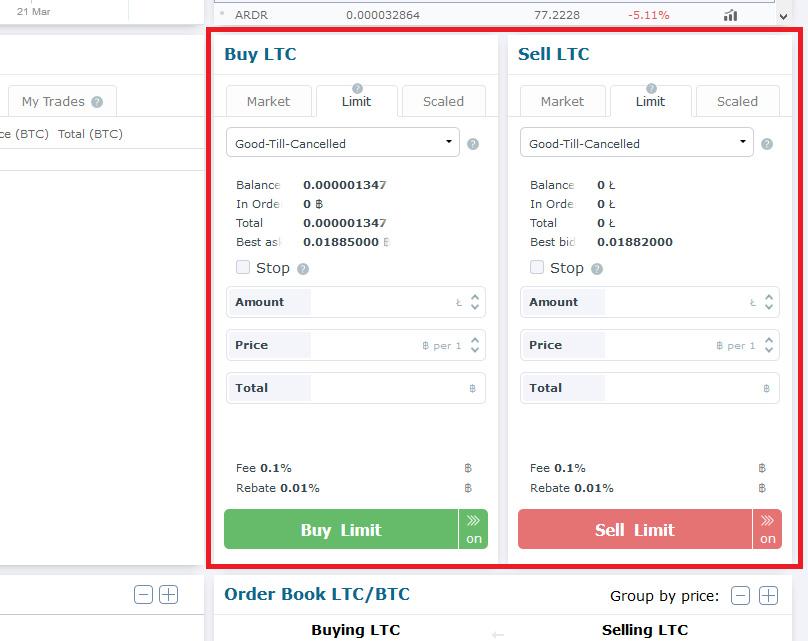 Come fare trading su HitBTC