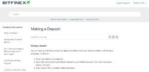 Bitfinex Depositi Prelievi Accettati