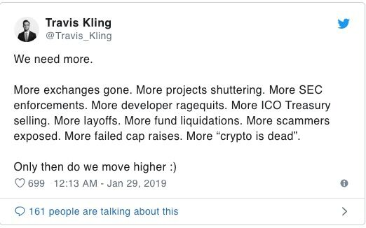 Travis Kling Tweet Chiusura Exchange