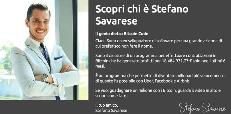Stefano Savarese e Bitcoin Code