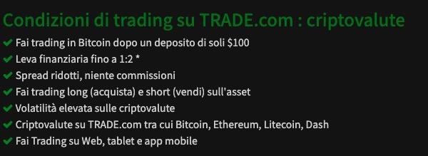Trade com Bitcoin Criptovalute