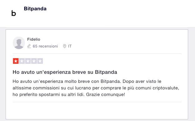 Bitpanda Opinioni Trustpilot