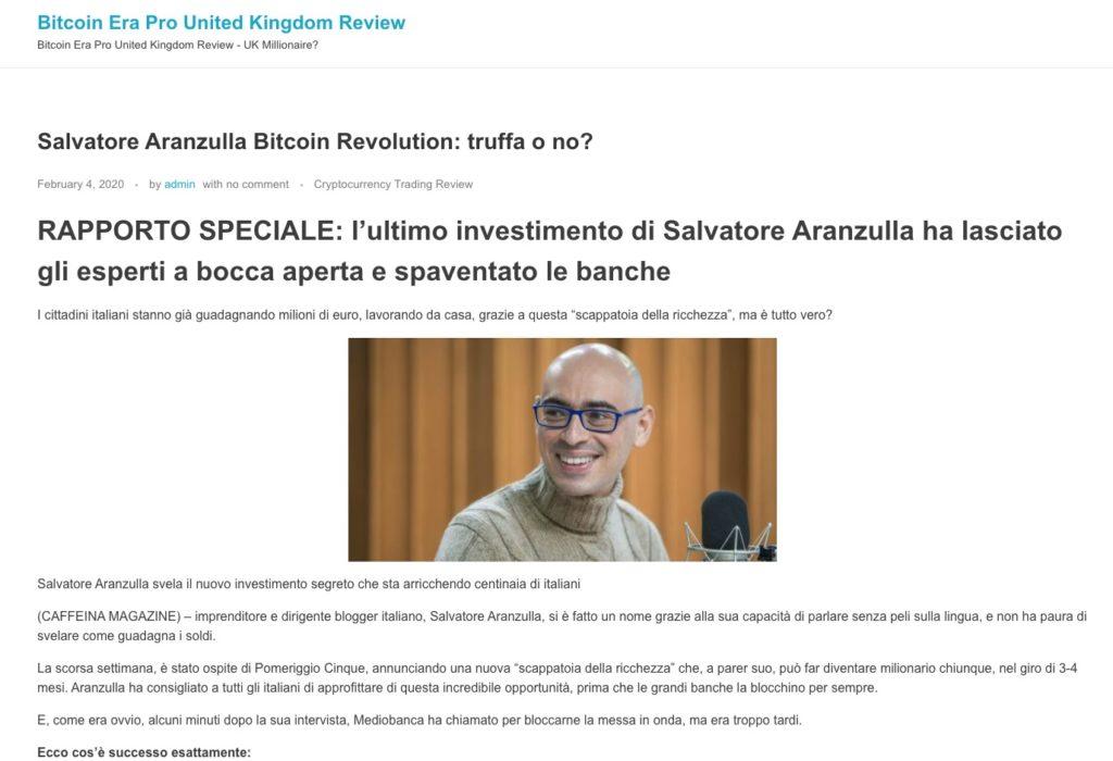 Bitcoin Revolution Aranzulla