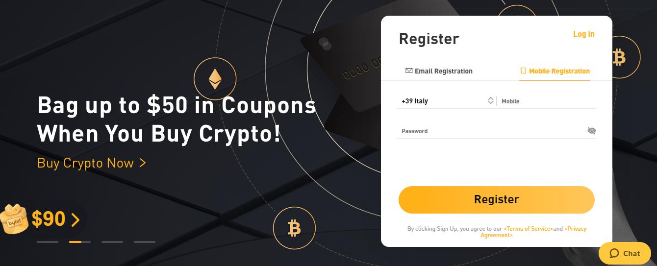 Registrazione Bybit
