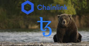 chainlink e tezos in mano agli orsi