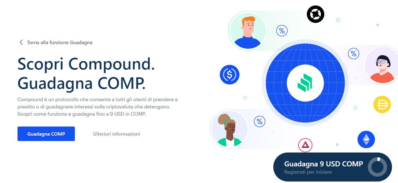 Compound su Coinbase
