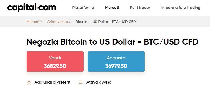 Bitcoin CFD su Capital