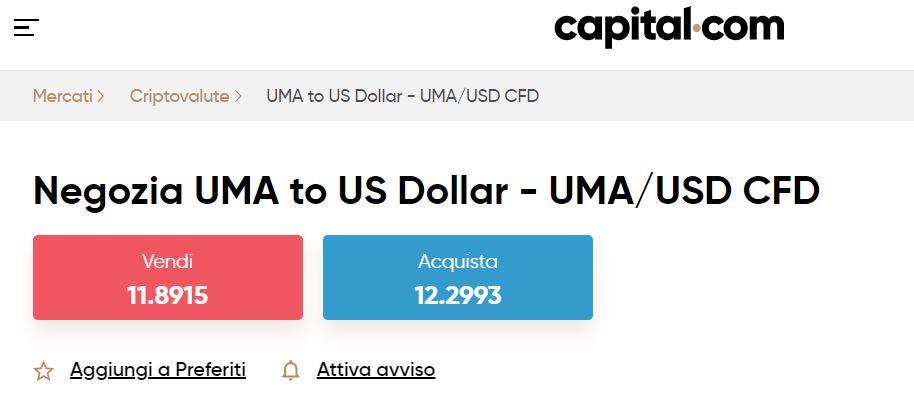 UMA CFD su Capital