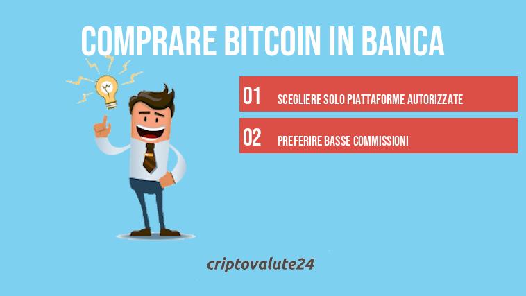 cosa dovrei investire in criptovaluta bitcoin banche italiane